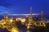 Twilight photo of power plant — Stock Photo