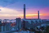 Power plant at dusk — Stock Photo