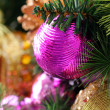 Christmas decorations background with copyspace — Stock Photo #7604357