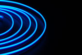 Blue neon stripe — Stock Photo