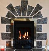 Gas fireplace — Stock Photo
