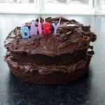 Domácí čokoládový dort — Stock fotografie #13990979