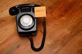 Black retro bakelite telephone — 图库照片