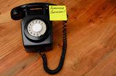 Schwarz retro Bakelit-Telefon — Stockfoto