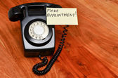 Retro black telephone — Stock Photo
