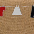 Royalty-Free Stock Photo: Hand made washing line design