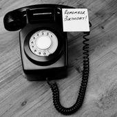 Siyah retro bakalit telefon — Stok fotoğraf