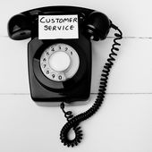 Old fashioned customer service concept — Stock Photo