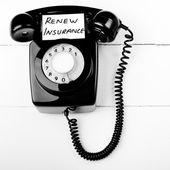 Insurance renewal reminder — Stock Photo