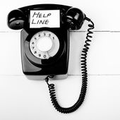 Telephone help line — Stock Photo