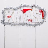 Shabby wooden christmas background — Zdjęcie stockowe