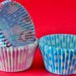 Empty cupcake cases — Stock Photo
