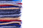 Coloured woolen threads on a white background — 图库照片