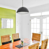 Bright dining room interior — Stock Photo