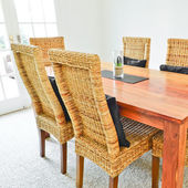 Dining room table and chairs — Stock Photo