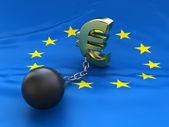 EU debt crisis — Stock Photo