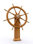Ship steering wheel — 图库照片