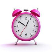 Pink alarm clock — Stock Photo