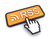 Rss-feed-button — Stockfoto