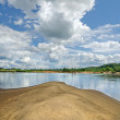 Klyazma river (Russia) — Stock Photo