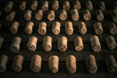 Set of wine plugs correctly lying — Stock Photo