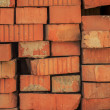 Old red bricks randomly lying — Stock Photo #21978745
