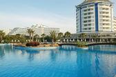Swimming pool in hotel. — Stock Photo