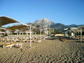 View of hotel beach. — Stock Photo
