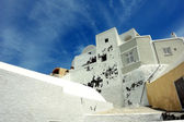 White house on Santorini Island. — 图库照片