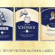 Stock Vector: Collection of labels for alcohol