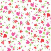 Vintage Valentine Pattern — Stock Vector