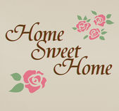 Home sweet home hand lettering vector — Stock Vector