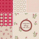 Vintage patterns — Stock Vector