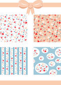Vintage Valentine Patterns — Stock Vector
