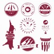 Set of meat shop labels and design elements — Stock Vector #27395911