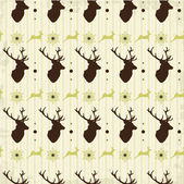 Vintage seamless background christmas pattern — Stock Vector