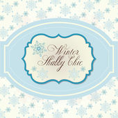 Winter background in Shabby Chic — Stock Vector