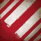 Fond grunge de rayures rouge et blanc de dangers — Vecteur