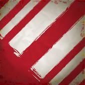 Grunge 的红色和白色的危害条纹背景 — 图库矢量图片