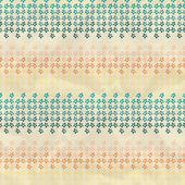 марочные шаблон с тропические цветы — Cтоковый вектор