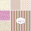 Shabby Chic patterns — 图库矢量图片