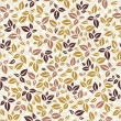 Autumn seamless pattern with leaves — Stock Vector