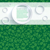 Eco health background with leaves — 图库矢量图片