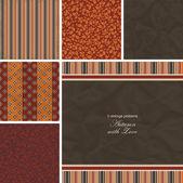 Set of Autumn Vintage Patterns — Stock Vector