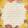 Autumn background with leaves — Vettoriali Stock