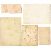Conjunto de papeles viejos — Foto de Stock