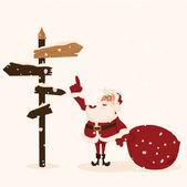 Santa apporte des cadeaux. illustration de vecteur de dessin animé — Vecteur