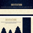 Christmas invitations cards — Stock Vector