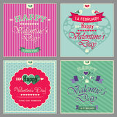 Happy valentines day cards — Vector de stock