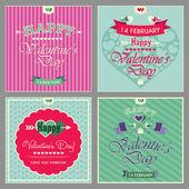 Heureuse saint valentin cartes — Vecteur